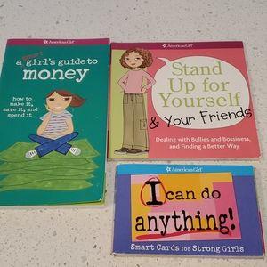 3 EUC American Girl books